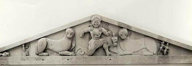 Frontone Tempio di Artemide a Corfù