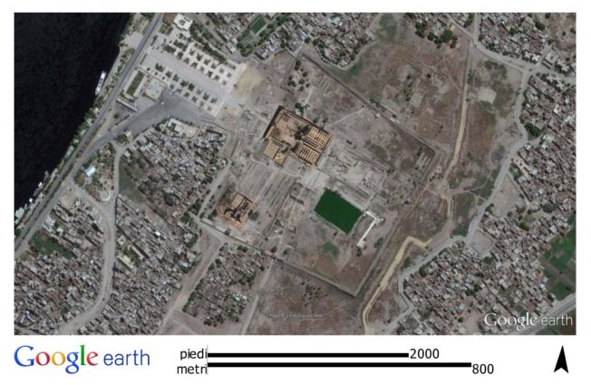 Tempio di Karnak in visione satellitare