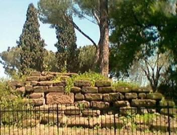 Resti dell'Auguraculum sul Campidoglio a Roma