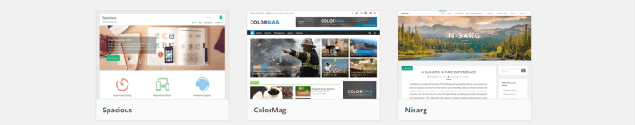 The WordPress Theme Repository is chock full of free theme options.