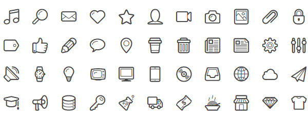 Lineicons icon webfont