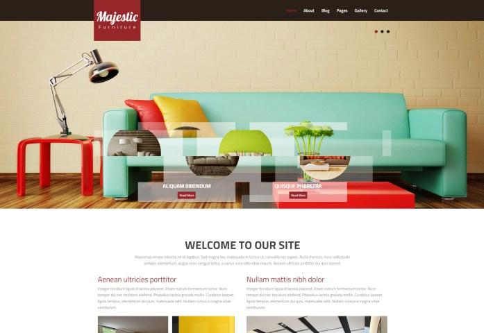 Majestic: Interior Design Multipurpose HTML Web Template