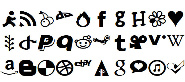 Just Vector icon webfont