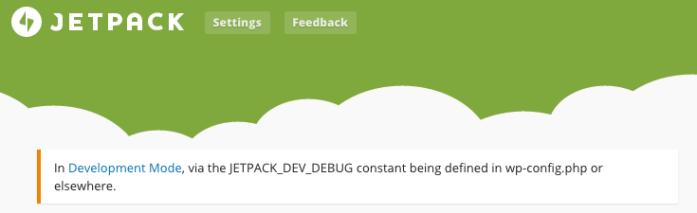 Jetpack running in Development Mode