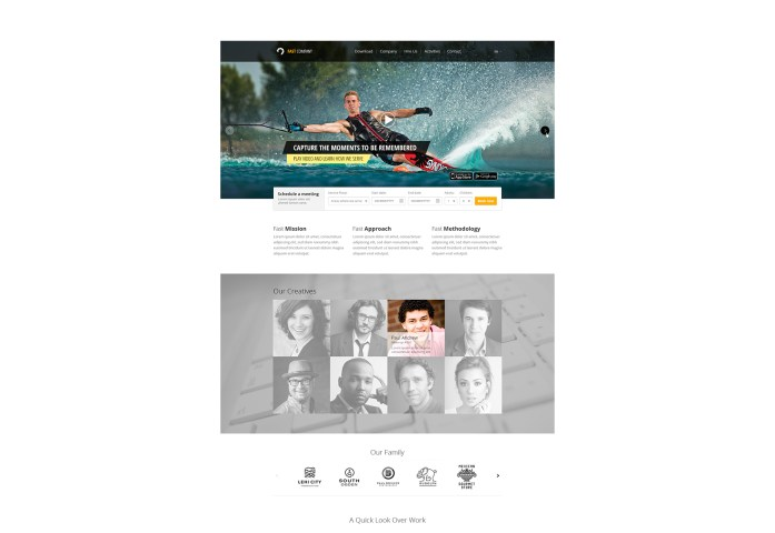 One Page PSD Website Template