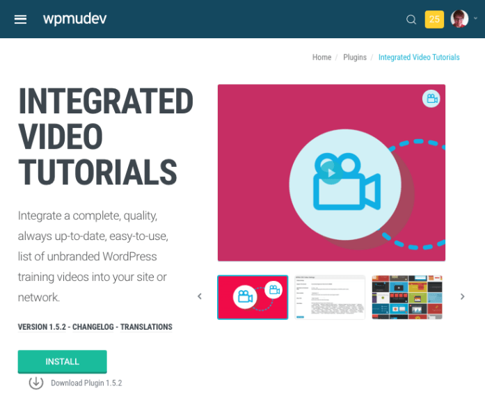 provide your clients with turoaisl to help them manage their sites on your network with the Integrated Video Tutorials plugin