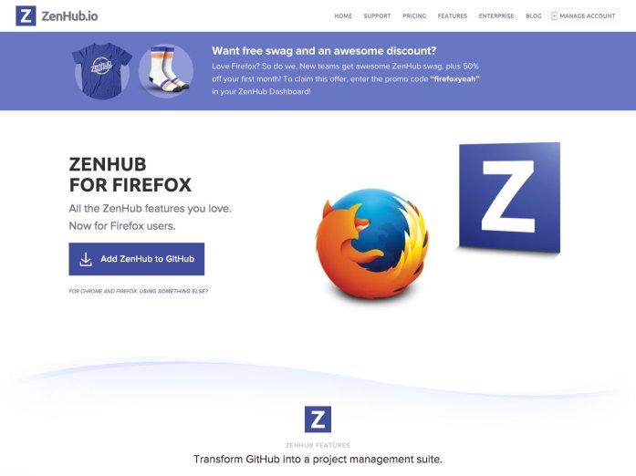 zenhub for firefox