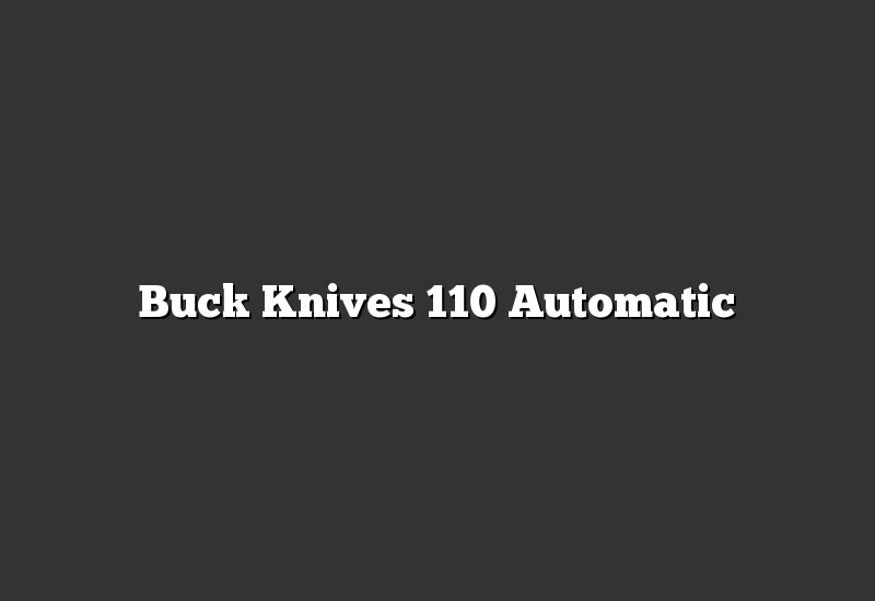 Buck Knives 110 Automatic