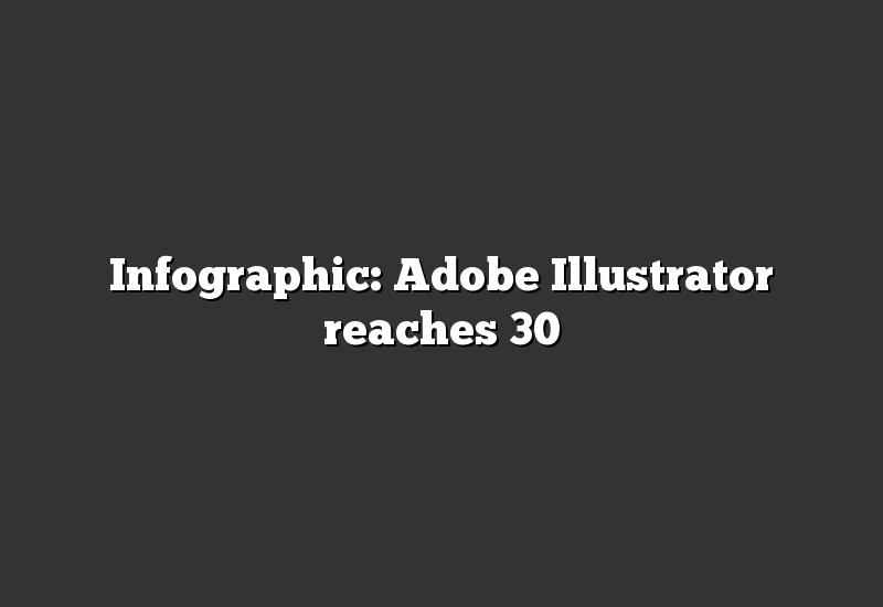 Infographic: Adobe Illustrator reaches 30