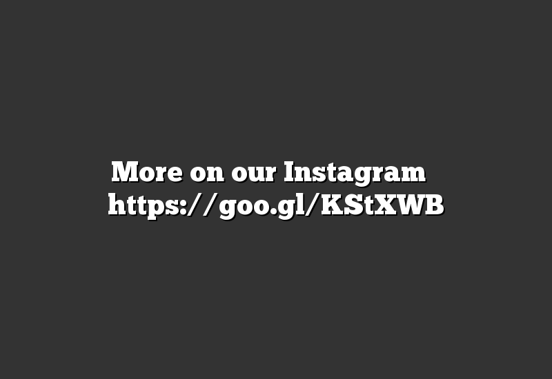More on our Instagram ➡ https://goo.gl/KStXWB