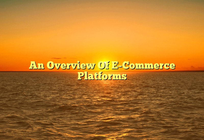 An Overview Of E-Commerce Platforms