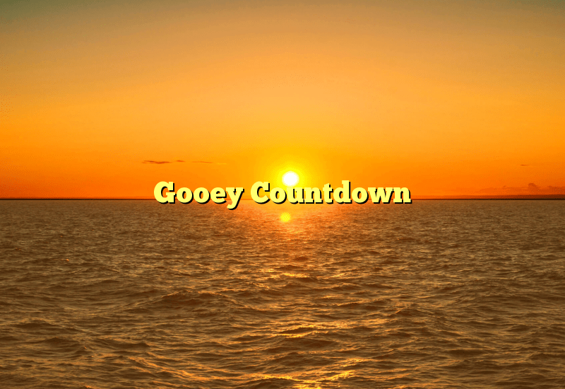 Gooey Countdown