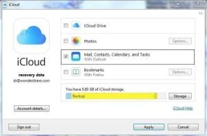 Disattivare iCloud