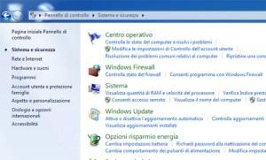 pannello controllo windows 7