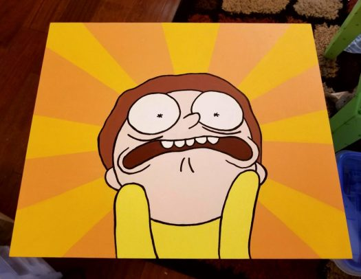 Morty painted tv tray