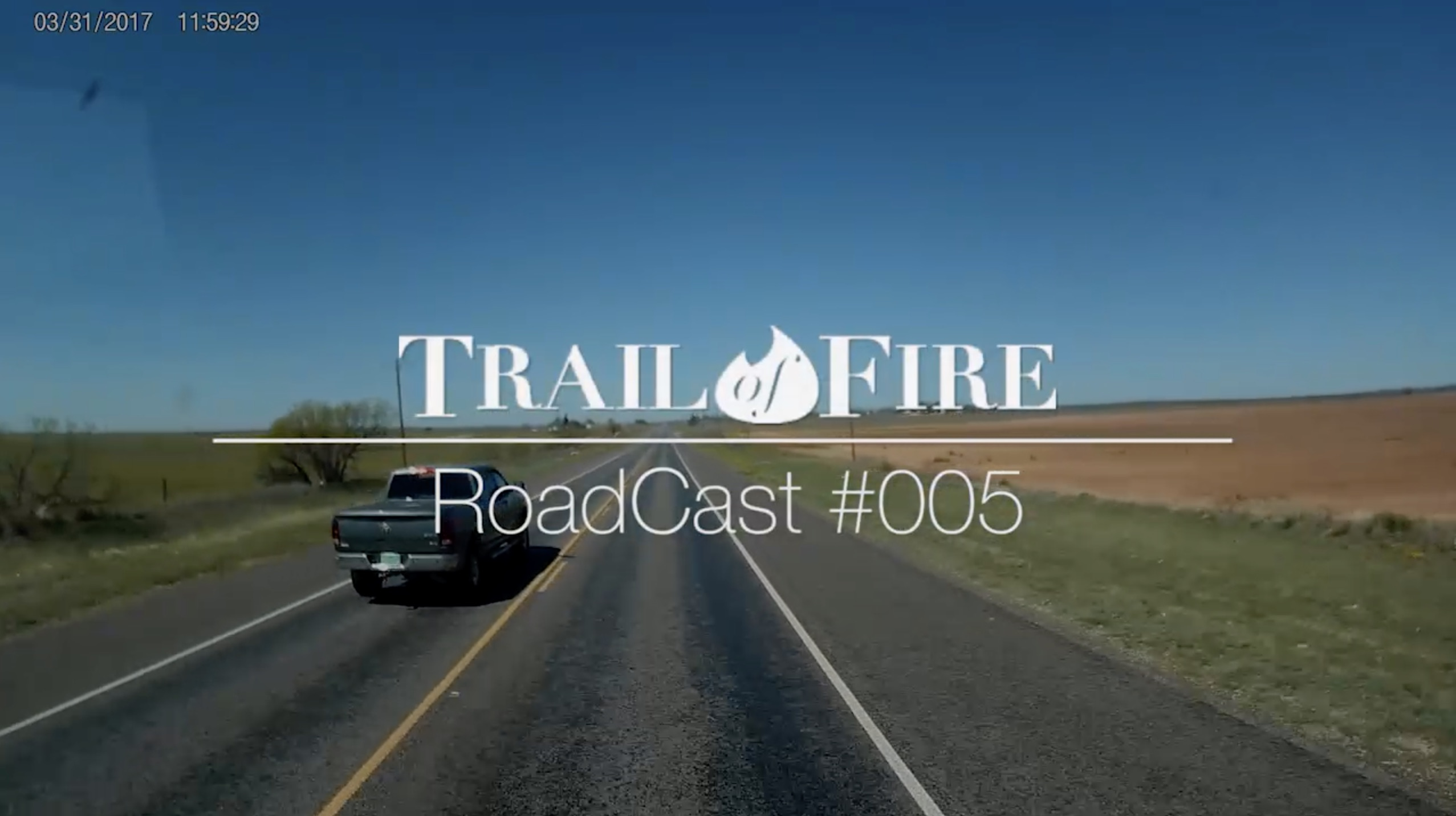 Road Cast 005:  Rolling Out of Texas with a jar of dirt in hand…