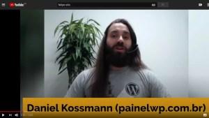 Captura de tela do vídeo do YouTube com Daniel Kossmann