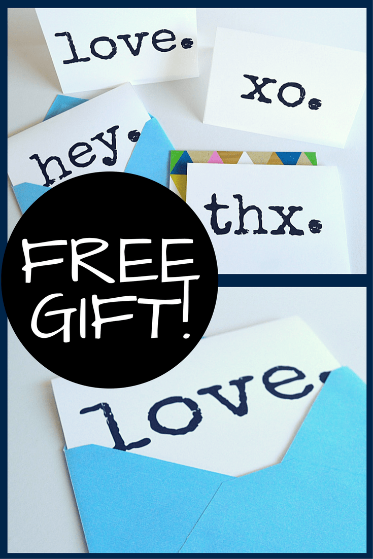 Free Gift! Multipurpose cards (blank inside) to use for any occasion. Set of 4 black & white cards to download for free