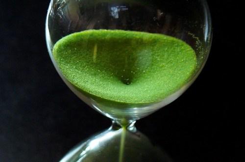 zandloper groen