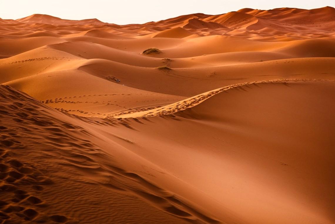 rode woestijn duinen