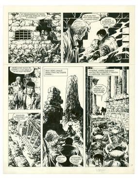 William VANCE - BOB MORANE - Les géants de Mû - Planche originale n°17