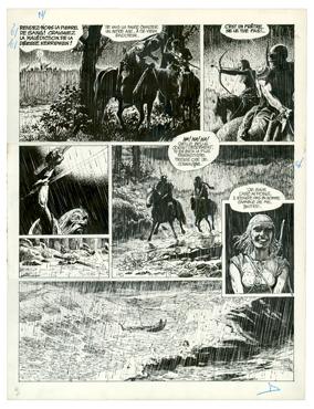 osinski - Thorgal - Les Archers - Planche originale n°4