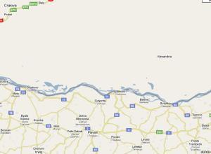 Google Maps - Bulgaria vs Romania