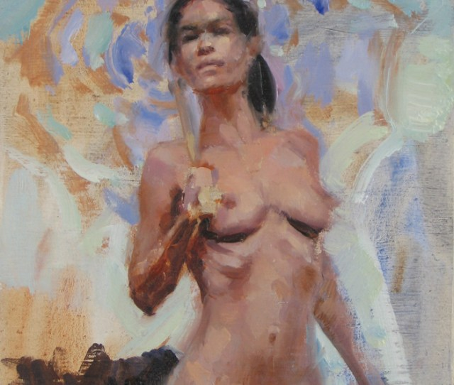 Nude Girl W Umbrella