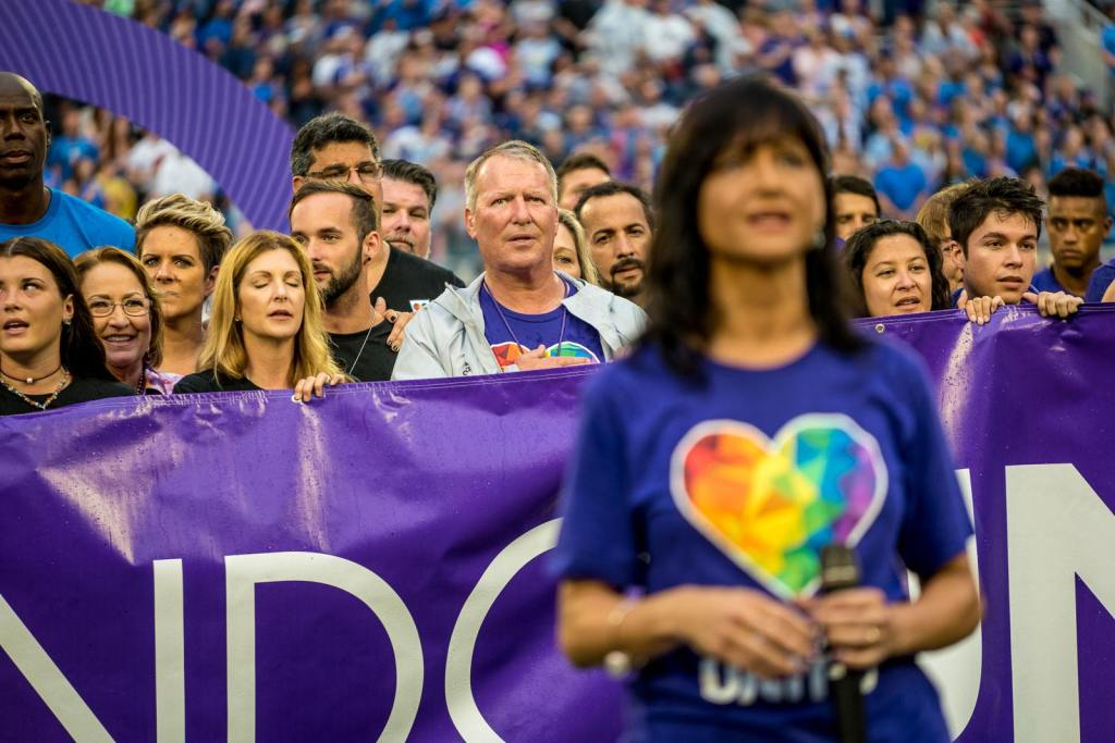 OCS Pre-Game Honor PULSE Orlando Survivors First Responders