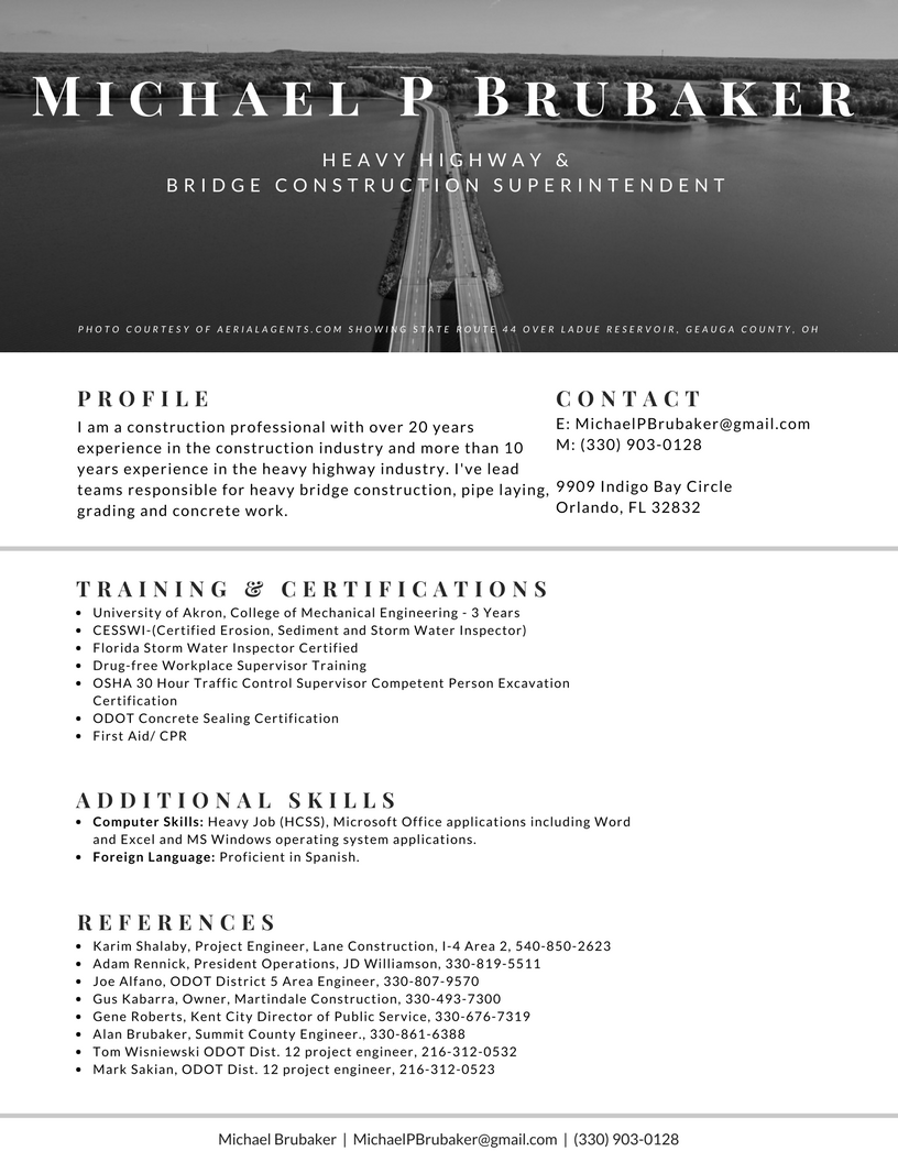 Bartending Resume Word Modern Rsum Designs Not Just For Tech Job Seekers  Orlando  Computer Skills On A Resume Pdf with Free Download Resume Excel Michael P Brubaker Resume   How To Format References On A Resume