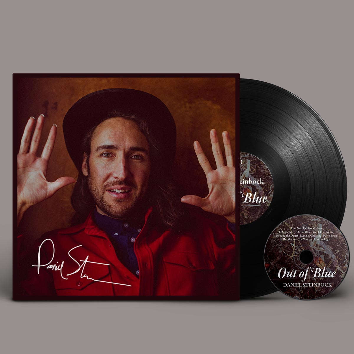 Daniel Steinbock - Out of Blue vinyl album signed