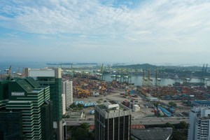 Harbor seen from the Pinnacles in Singapore