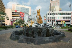 Cats monument in Kuching