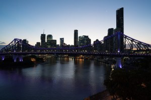 Skyline of Brisbane at Dusk