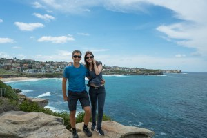 Ilinca and Me at Bronte Beach in Sydney