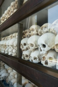 Skulls of Victims near Phnom Penh