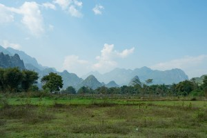 Surrounded by Mountains near Vang Vieng