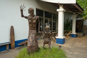 Sculpture From Bombs in Vientiane