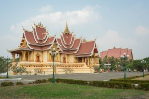 Temple Near Pha That Luang in Vientiane