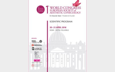 World Congress European Society of Aestetic Gynecology. Roma, 20-21 Aprile 2020