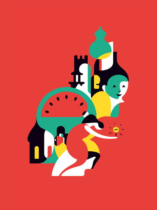 Illustrations promotional from EEA by Dani Montesinos
