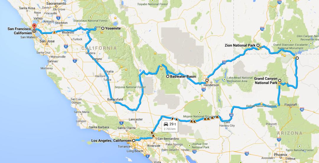 Rundrejse i USA