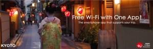Gratis wifi i Japan