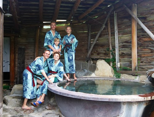 1 døgn på Ryokan med Onsen bade i De Japanske Alper
