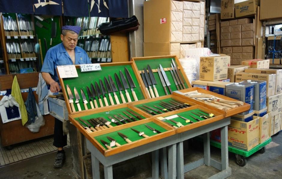 Tsukiji's kniv specialist