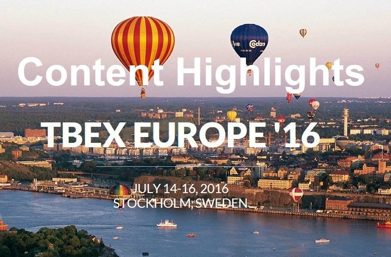 TBEX Stockholm content highlights