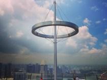 Toppen af Hotel Marina Bay Sands