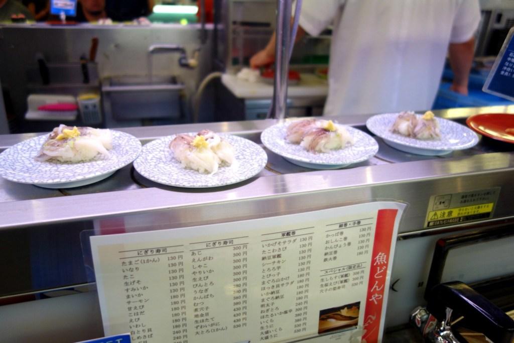 Sushi med blæksprutte