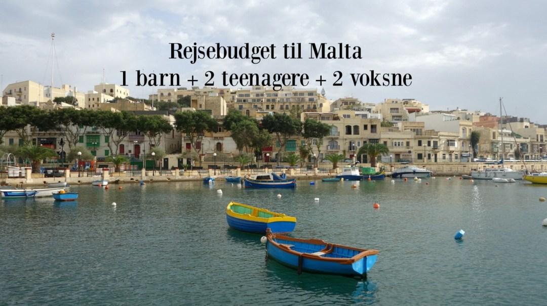 Rejsebudget til Malta for en familie