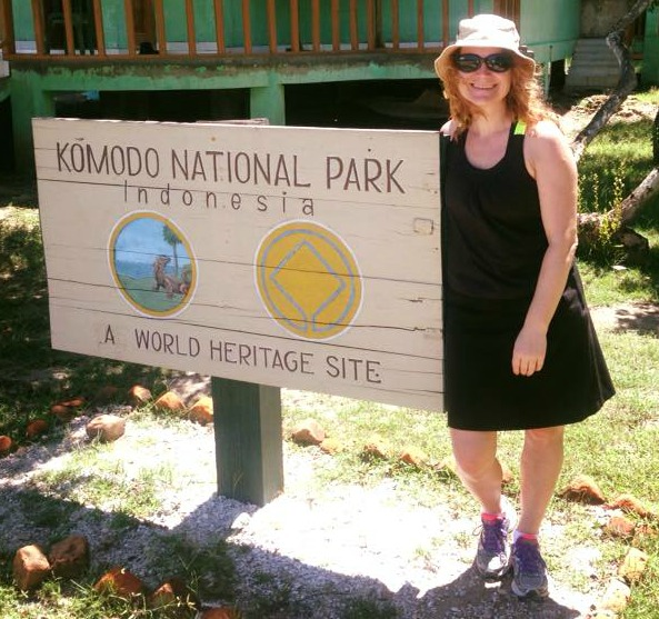 Bettina Arknaes i Komodo National Park - UNESCO
